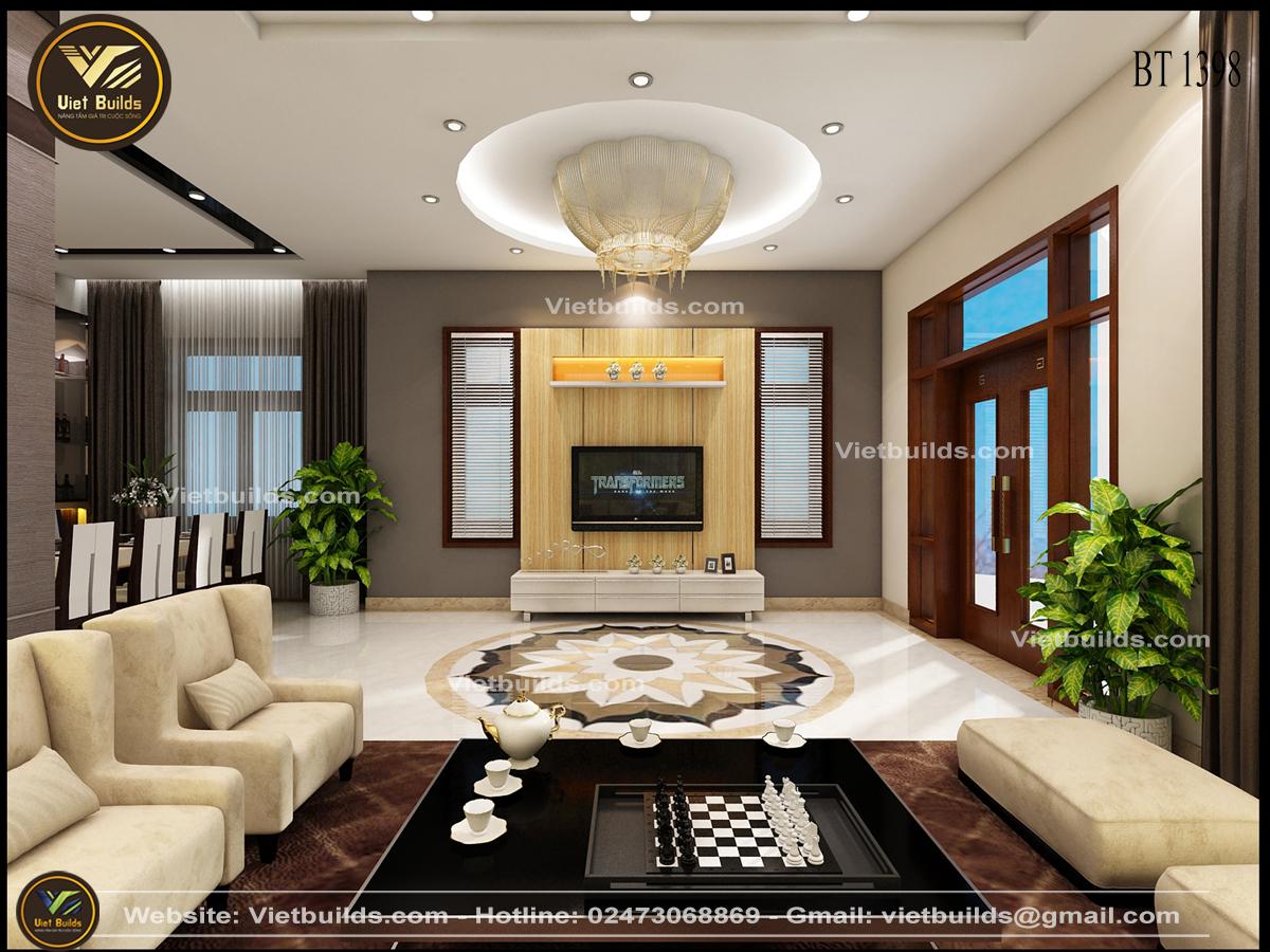 Các mẫu tư vấn thiết kế nội thất phòng khách đẹp NT1398