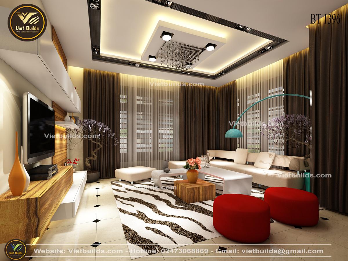 Mẫu thiết kế nội thất biệt thự đẹp hiện đại sang trọng NT1396