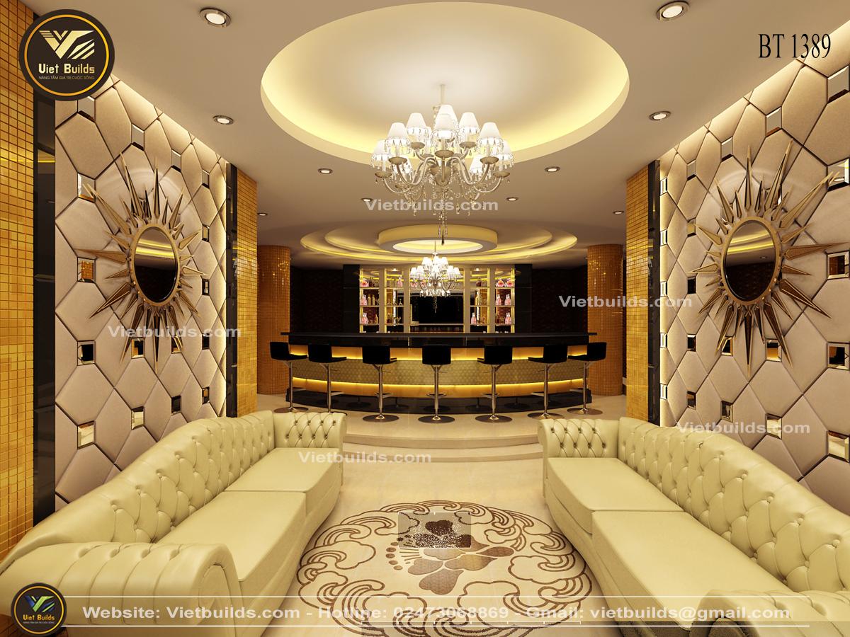 Mẫu thiết kế nội thất khách sạn tân cổ điển đẹp sang trọng NT1389