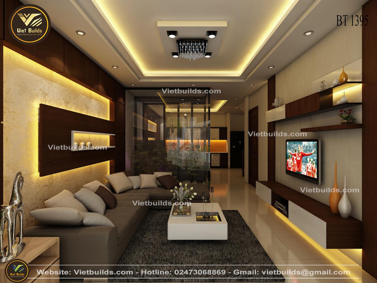 Mẫu thiết kế trọn gói nội thất đẹp hiện đại cho nhà phố NT1395