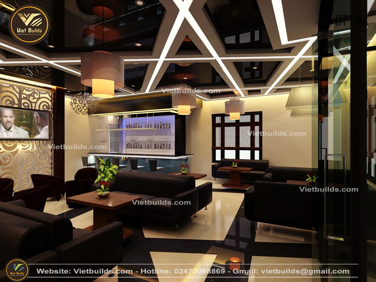 Mẫu thiết kế quán cà phê ĐẸP hiện đại NT1388